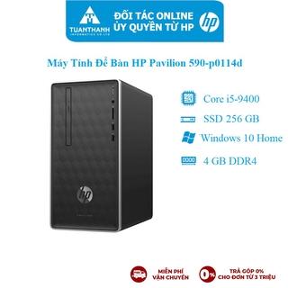 Máy tính để bàn HP Pavilion 590-p0114d/ i5-9400/ 4G/ 256G SSD/ WL+BT/ Black/ W10