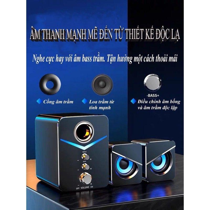 Bộ 3 loa vi tính mắt đại bàng cực ngầu kết nối được với máy tính, laptop, điện thoại