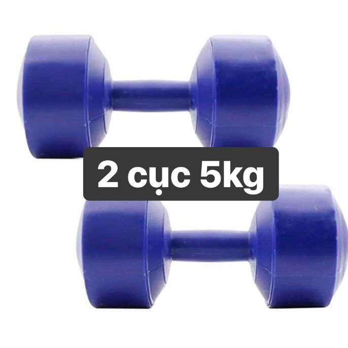 Tạ tay nhựa 1 cặp 5kg = 10kg