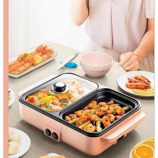 Bếp nướng lẩu 2 in 1 Mini Hàn Quốc🍢🥘 – Bếp Điện Đa Năng Cofy -Nồi Đôi Mini Nướng và Lẩu Cofy 2 trong 1