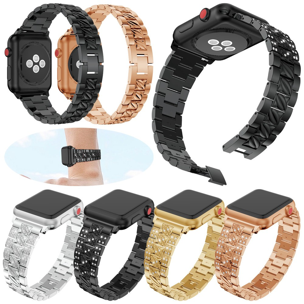 Luxury Crystal Watch Band Wrist Strap For Apple Watch Series 1/2/3 42mm