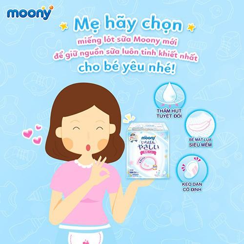 Hình ảnh Miếng lót thấm sữa Moony (68 miếng/ 1 bịch) - Nhập khẩu từ Nhật Bản-6