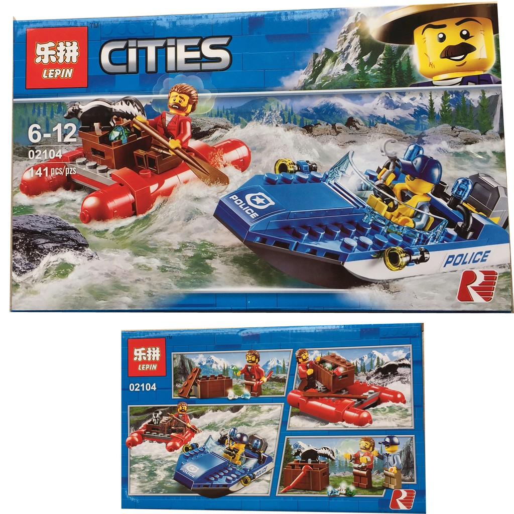 Xếp hình Lego Cities - Canô cảnh sát săn bắt cướp 141 pcs