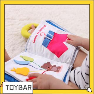 【0-3 Years Old】Children's Enlightenment Toys Tear Unbreakable Goodnight Book Infant Early Childhood Toys