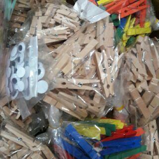 kẹp gỗ mầu va không màu