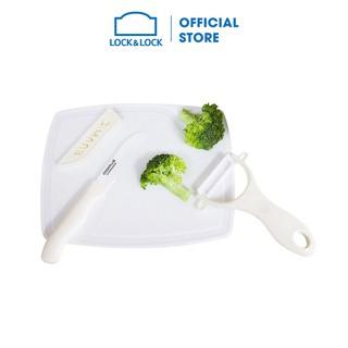 [Mã LIFEHL9 giảm 8% tối đa 100K đơn 250K] Bộ dao nhà bếp 4 món Lock&Lock Cookplus bằng sứ màu trắng CKK503WHT thumbnail
