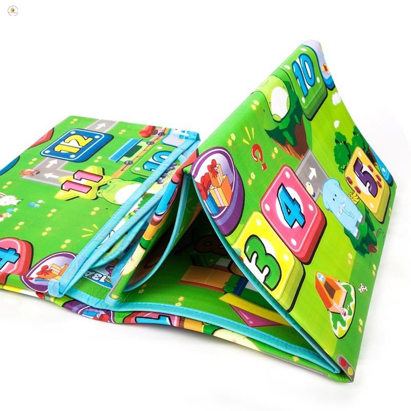 [SALE OFF]Thảm chơi 2 mặt cho bé Maboshi 1m8 x 2m. Chất liệu cotton mút cao cấp