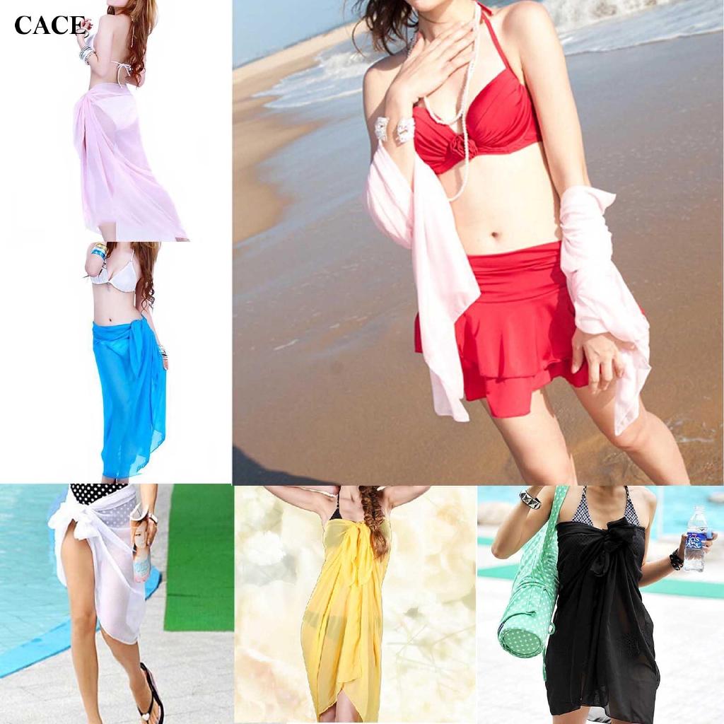 Beach Mantilla Sexy Translucent Bikini Swimwear Fashion for Women Girl
