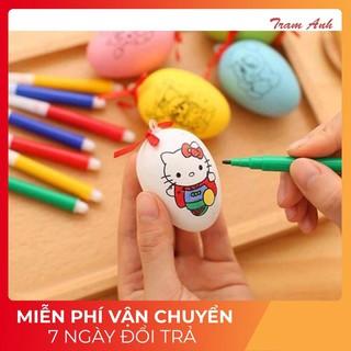 [SIÊU GIẢM GIÁ] Quả trứng tô màu cho bé + Bút màu cao cấp
