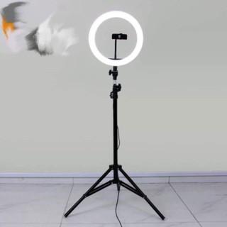 cây đèn livestream – vòng đèn 32cm, kẹp đt, cây đỡ đèn cao 2 mét