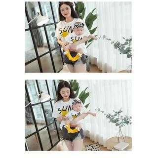 Áo gia đình Familylove - Đồng phục gia đình chất liệu cotton 100% siêu mềm mịn họa tiết SUN dễ thương thumbnail