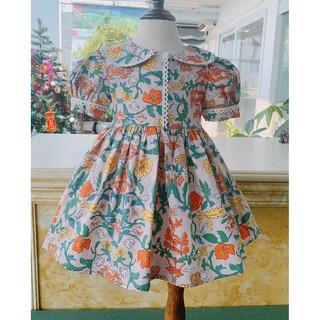 Váy Bé Gái / Váy Trẻ Em/ Đầm Bé Gái/ Đầm Trẻ Em Họa Tiết Hoa Lá Siêu Tây Cho Bé Từ 1 - 8 Tuổi