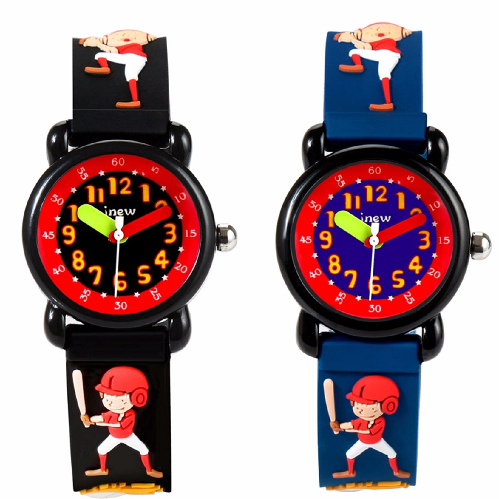 Cartoon Boy Rubber Watch Analog Boys Student Wrist Watches Jam Tangan Waterproof