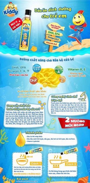 Dầu ăn Kiddy dinh dưỡng Cá hồi cho bé 250ml