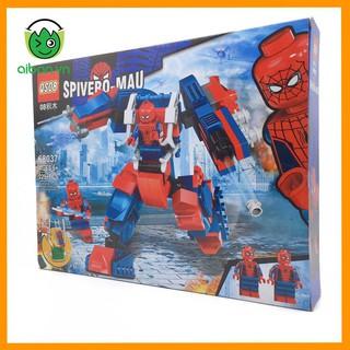 Lego Spider Man 229+ Mảnh Ghép Người Nhện Xa Nhà