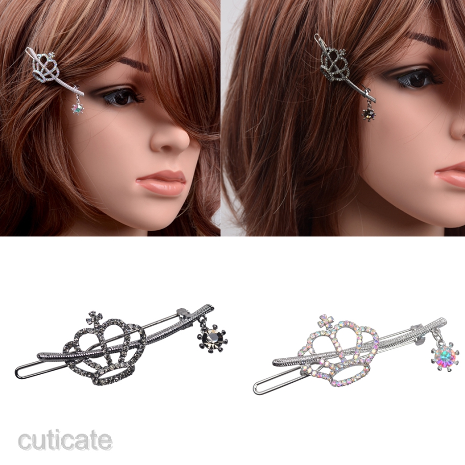 Bridal Wedding Crown Crystal Rhinestone Hair Pin Clip Comb Diamante Hairpin