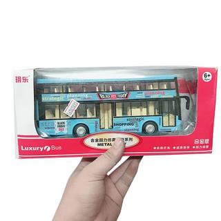 Đồ Chơi Mô hình xe bus 2 tầng shopping DB1714 [SHIP TOÀN QUỐC]