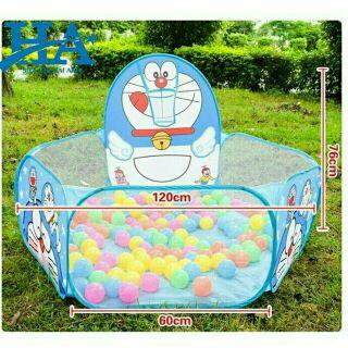 Lều bóng đôrêmon tặng kèm 500 quả bóng đủ màu cho bé yêu.