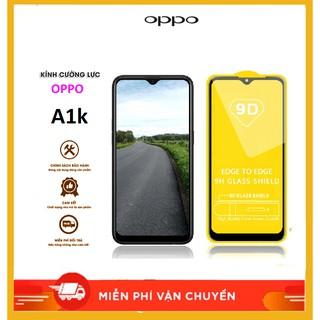 OPPO A1K – Kính cường lực 9D full màn hình – độ cứng 9H tiêu chuẩn bảo vệ màn hình Siêu Bền