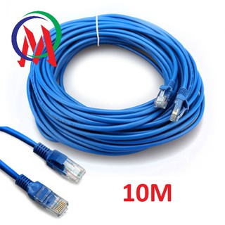 ( Bấm Sẵn 2 Đầu ) Cáp Mạng UTP Cat 5E Dây Xanh Cable Lan UTP Cat 5E – 10m