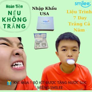 (TẠNG 1 NƯỚC SÚC MIỆNG+ 1 HỘP KHẨU TRANG Y TẾ+FREESHIP) Bộ kit làm trắng răng Smilee