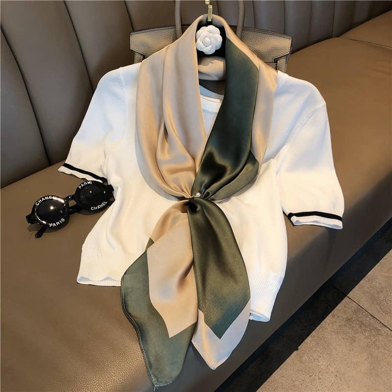Khăn lụa thời trang cao cấp - khăn choàng áo cỡ 90x90cm