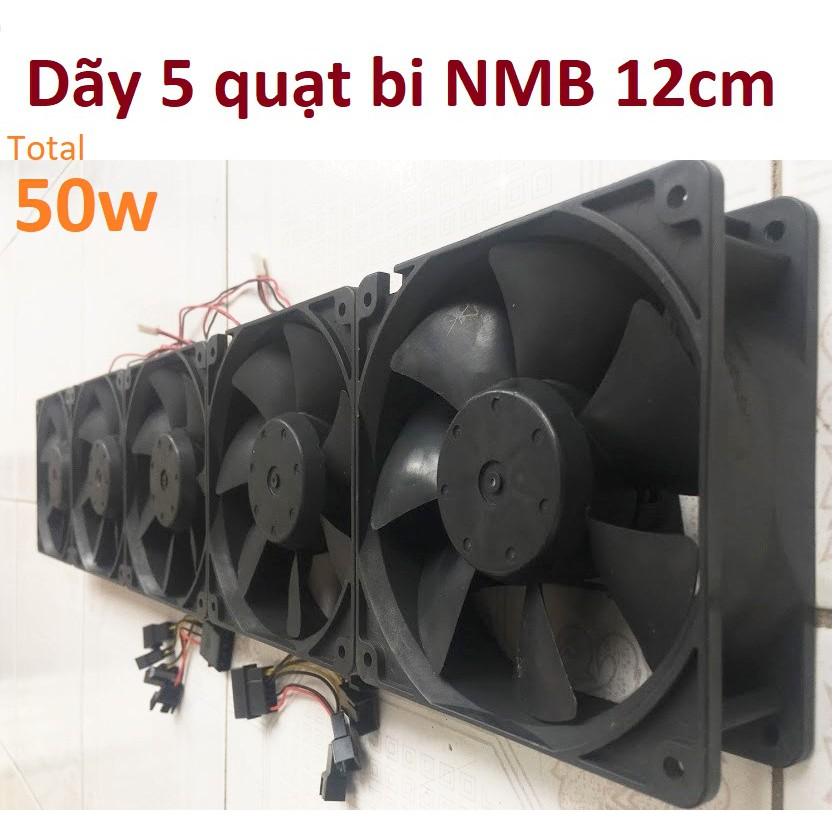 Dãy 5 quạt bi server NMB 12cm 0.9a công suất 50ww, chiều dài 60cm, fan 12v tháo máy bộ - 9989553 , 412440235 , 322_412440235 , 415000 , Day-5-quat-bi-server-NMB-12cm-0.9a-cong-suat-50ww-chieu-dai-60cm-fan-12v-thao-may-bo-322_412440235 , shopee.vn , Dãy 5 quạt bi server NMB 12cm 0.9a công suất 50ww, chiều dài 60cm, fan 12v tháo máy bộ