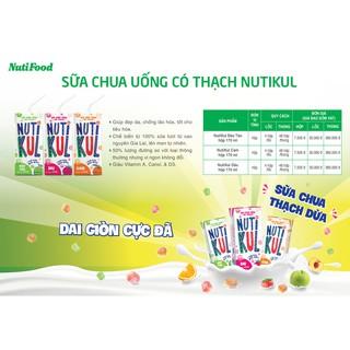 Sữa chua uống có thạch NutiKul 🍀Freeship🍀 Thùng 48 hộp x 170ml [Date mới]
