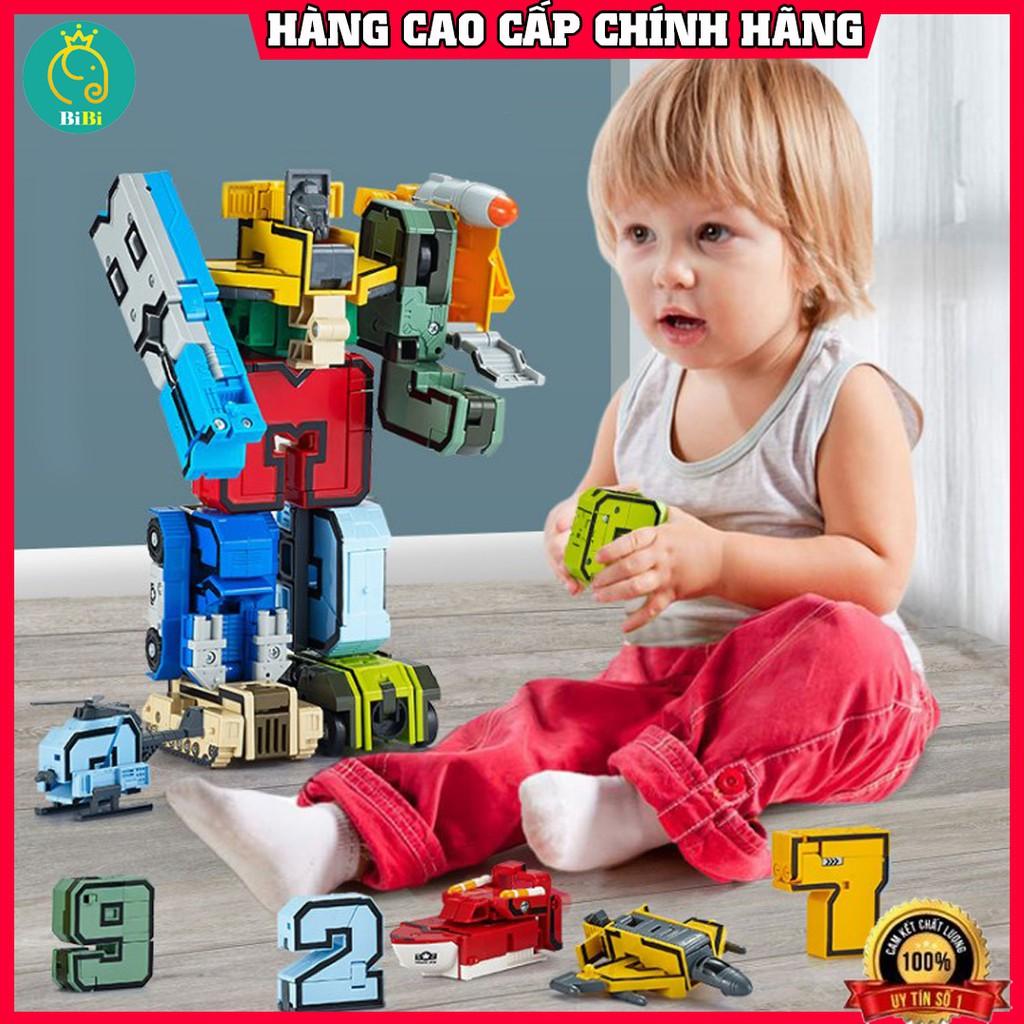 Robot biến hình 💥FreeShip – Sale sập sàn💥đồ chơi số chữ robot biến hình, động vật 16 chi tiết nhựa ABS cao cấp