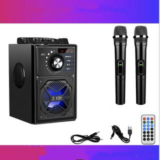 Loa mini karaoke chuyên nghiệp 2 micro 3D siêu trầm