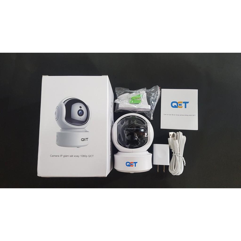 CAMERA IP XOAY 360 ĐỘ QCT 1080P THEO DÕI CHUYỂN ĐỘNG - Hệ thống camera giám  sát Hãng No Brand