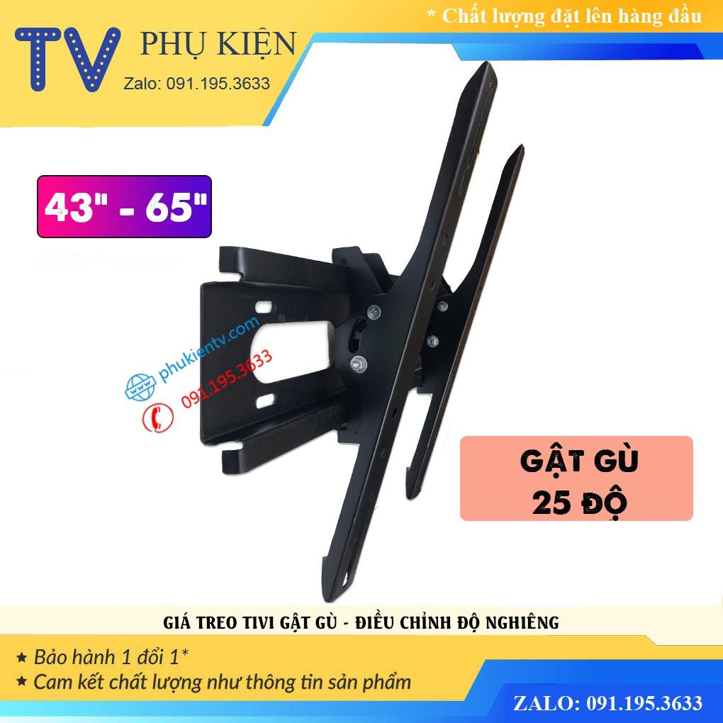 Giá treo tivi nghiêng 43-65 inch - giá treo gật gù điều chỉnh góc nghiêng 43 - 65 inch