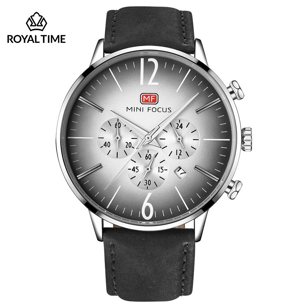 [Tặng vòng tay]Đồng hồ nam Mini Focus chính hãng MF0114G.01C dây da cao cấp