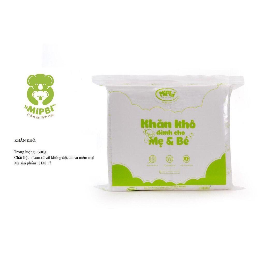 [Mã 267FMCGSALE giảm 8% đơn 500K] Khăn khô đa năng Mipbi bao bì mới dành cho mẹ và bé 600g