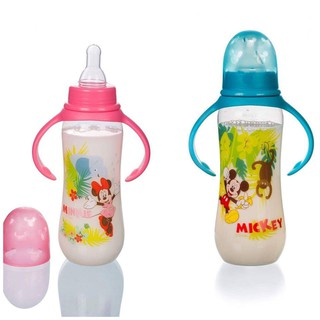 Bình Sữa Có Tay Cầm 125ml 250ml xanh hồng Disney
