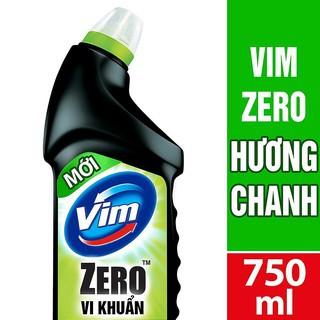 CHẤT TẨY RỬA BỒN CẦU VIM ZERO THƠM MÁT 750ML HƯƠNG CHANH ( MSP 67177581)