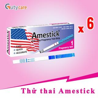 Que thử thai Amestick phát hiện thai sớm - nhanh chóng - đơn giản - chính xác - Combo 6 que thumbnail