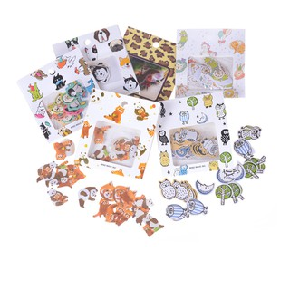 SIY❤ 70pcs Animals Mini Paper Sticker DIY Diary Planner Album scrapbook P
