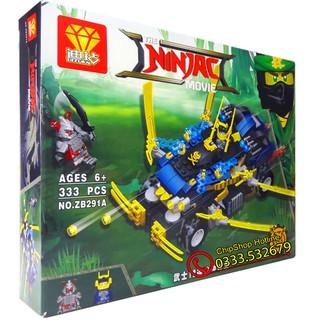 Bộ Lego Xếp Hình Ninjago Siêu Robot Chiến Đấu. Gồm 333 chi tiết. Lego Ninjago Lắp Ráp Đồ Chơi Cho Bé.