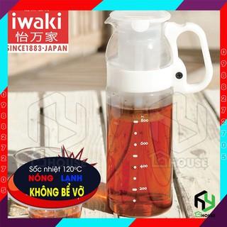 [NHẬT BẢN] Bình nước thủy tinh siêu chịu nhiệt đổ nước nóng không vỡ Iwaki có lọc Iwaki – 1.3L @KT2933FW