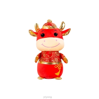 Soft Festival Home Decoration Kids Holiday Stuffed Chinese New Year Cow Plush Toy