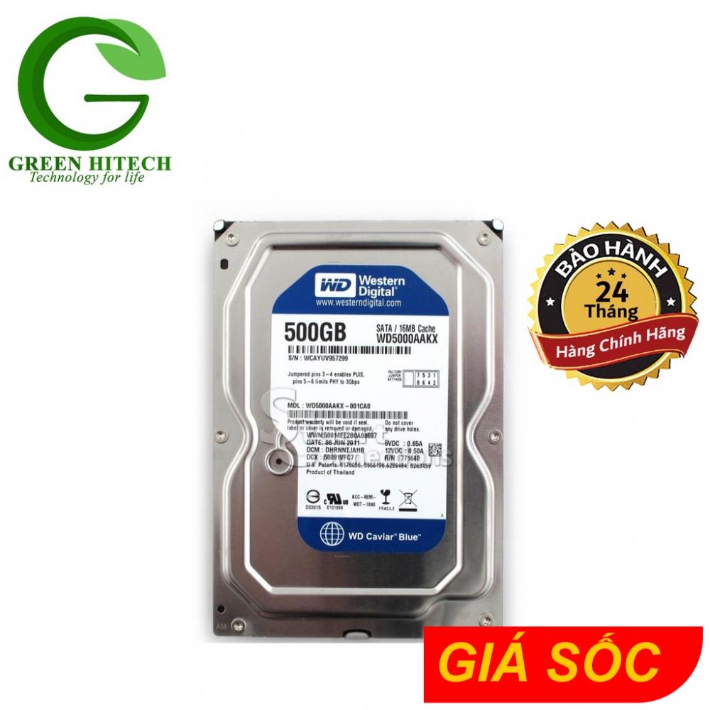 [Nhập ELCL30K giảm 30K đơn từ 200K]Ổ cứng máy tính WD Blue 500GB – HDD WD 500GB – Chính hãng BH 2 Năm – 1 đổi 1 Giá chỉ 427.500₫