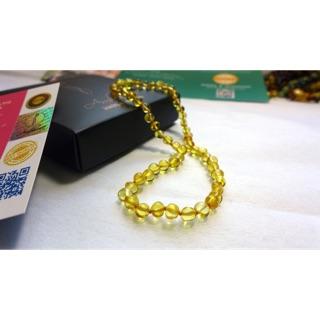 Vòng cổ Amber Úc chính hãng size 35 cm