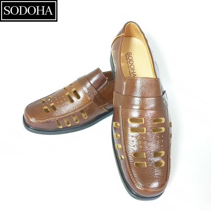 Giày Tây Nam Da Bò Đục Lỗ SODOHA SDH2889