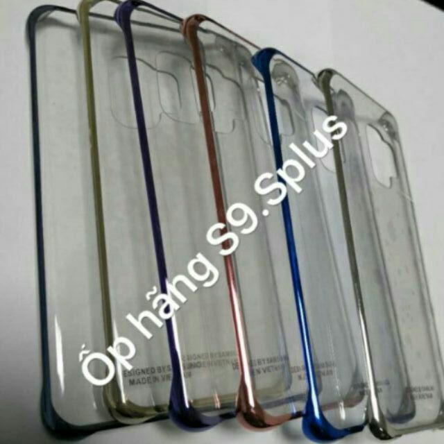 Ốp hãng clear cover lưng trong viền màu samsung S9/S9 plus( xịn loại 1)