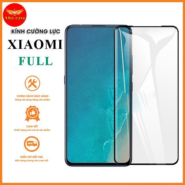 [Giá rẻ+Free Ship] Kính cường lực Xiaomi redmi note 9, note 9 pro, xiaomi redmi 9, xiaomi K30 Full màn + Tặng giấy lau
