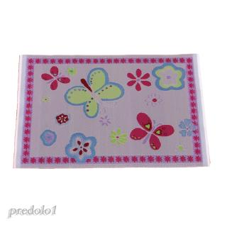 1/12 Dolls House Miniature Rug Flower Pattern Carpet Floor Covering Area Rug