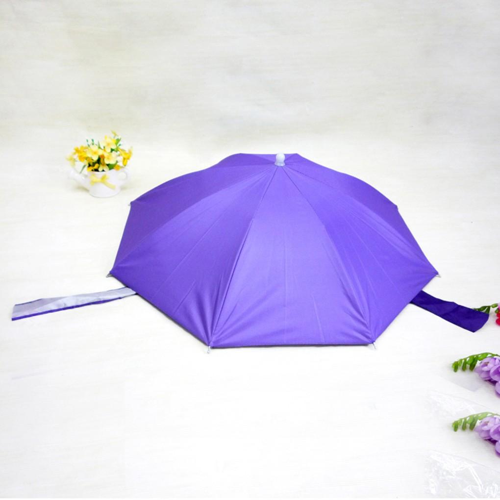Nón dạng dù màu xanh dương có đai đội đầu co giãn bằng nylon