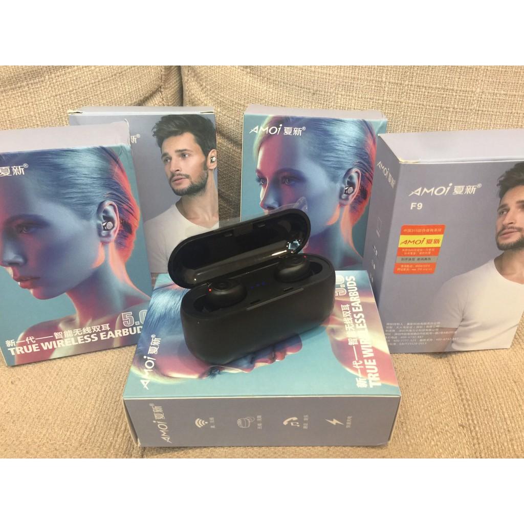 Tai nghe Bluetooth True Wireless AMOI F9 V5.0 phiên bản tiếng Anh