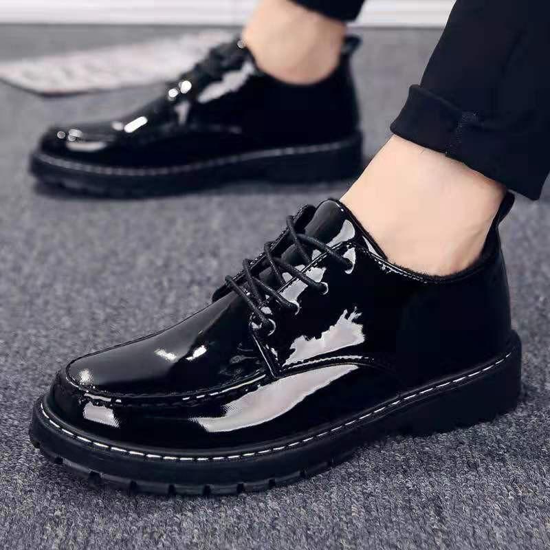 (LG014)Giày da nam buộc dây phong cách hiện đại sang trọng nam tính